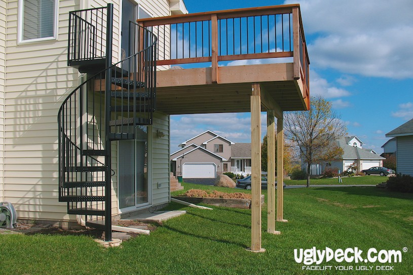 Enhance Your Deck With An Outdoor Spiral Staircase
